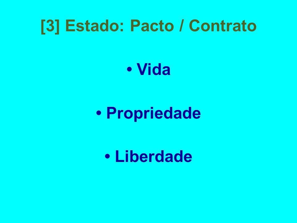 [3] Estado: Pacto / Contrato • Vida • Propriedade • Liberdade